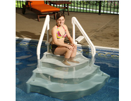 GRAND ENTRANCE ABOVE GROUND POOL STEP + FREE SHIPPING