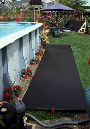Above ground pool solar heating above ground pools for Solar heaters for swimming pools