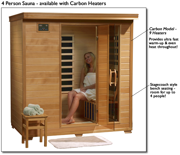 MONTICELLO - 4 PERSON CARBON HEATWAVE� SAUNA
