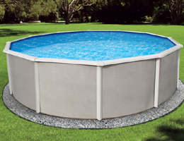 "Belize 12' Round 52"" Steel Pool with 6"" Top rail + FREE SHIPPING"
